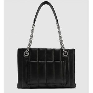 NWT Zara Quilted Leather Tote Bag